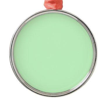 Professional Business #CCFFCC Hex Code Web Color Light Mint Green Metal Ornament