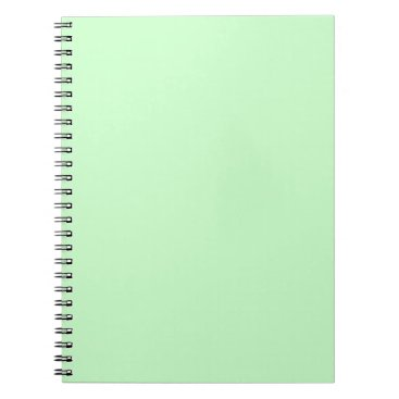 Professional Business #CCFFCC Hex Code Web Color Light Mint Green Notebook