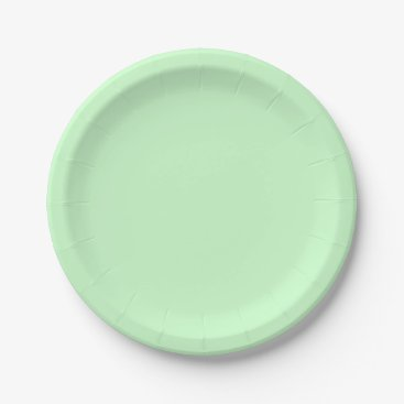 Professional Business #CCFFCC Hex Code Web Color Light Mint Green Paper Plate