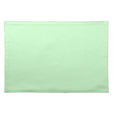Professional Business #CCFFCC Hex Code Web Color Light Mint Green Placemat