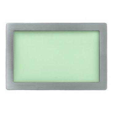 Professional Business #CCFFCC Hex Code Web Color Light Mint Green Rectangular Belt Buckle