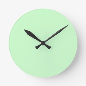 Professional Business #CCFFCC Hex Code Web Color Light Mint Green Round Clock