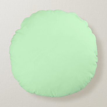 Professional Business #CCFFCC Hex Code Web Color Light Mint Green Round Pillow