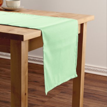 Professional Business #CCFFCC Hex Code Web Color Light Mint Green Short Table Runner
