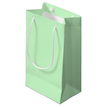 Professional Business #CCFFCC Hex Code Web Color Light Mint Green Small Gift Bag