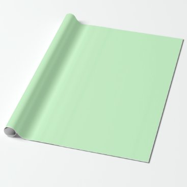 Professional Business #CCFFCC Hex Code Web Color Light Mint Green Wrapping Paper