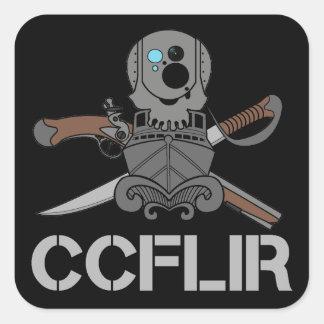 "CCFLIR Legacy Zap (Sticker), 3"" X 3"", sheet of 6 Square Sticker"
