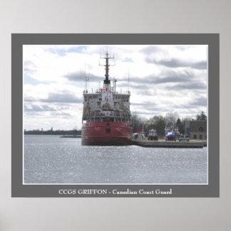 CCGS GRIFFON - Guardacostas canadiense Póster