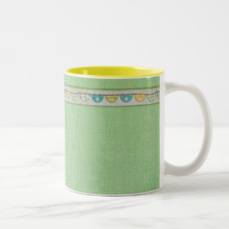 CCH CUTE SCRAPBOOKING COUNTRY HEARTS LOVE WALLPAPE Two-Tone COFFEE MUG