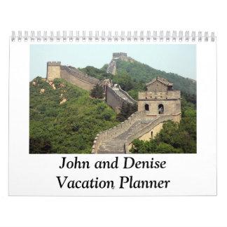 CCHMC John and Denise Vacation Planner Calendar