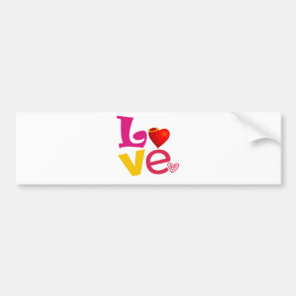 CCL COLORFUL CARTOON LOVE EXPRESSIONS FEELINGS LOG BUMPER STICKER
