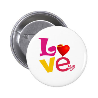 CCL COLORFUL CARTOON LOVE EXPRESSIONS FEELINGS LOG 2 INCH ROUND BUTTON