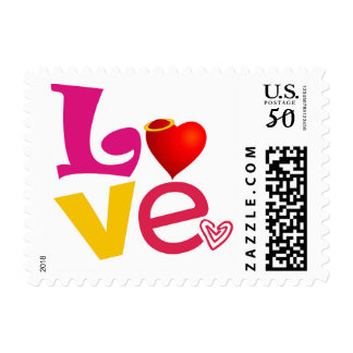 CCL COLORFUL CARTOON LOVE EXPRESSIONS FEELINGS LOG POSTAGE