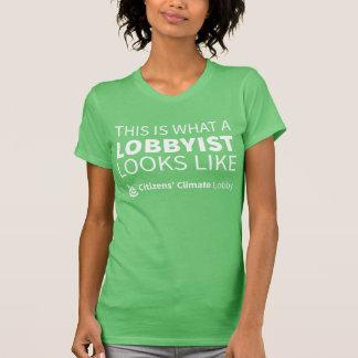 CCL Lobbyist Ladies Green T-Shirt