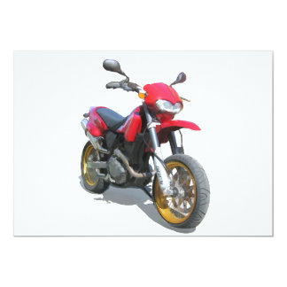 CCM R30 Motorcycle in Red 5x7 Paper Invitation Card