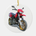 CCM R30 Motorcycle in Red Christmas Ornaments