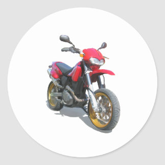 CCM R30 Motorcycle in Red Classic Round Sticker