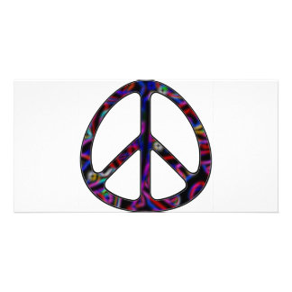 ccolorful peace sign picture card