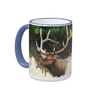 CCP - 406,MF - 6 Point Bull Elk  Montana  - Ringer Mug