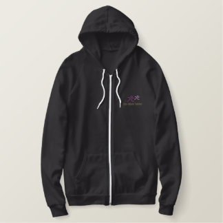 CCS Embroidered Sherpa-lined Zip Hoodie - Women