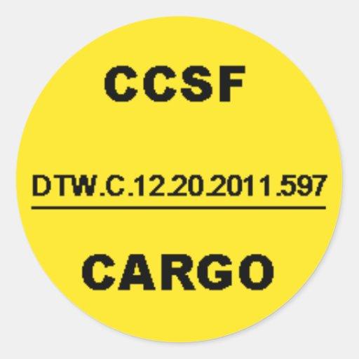 CCSF3 PEGATINA REDONDA