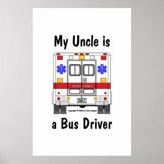 Ccsme-Ambulancia, conductor del tío el autobús, po Póster