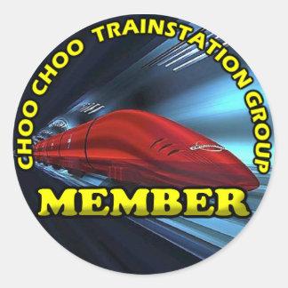 CCTSG Members Round Sticker, Glossy Classic Round Sticker