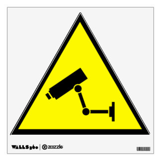 CCTV Caution Sign Wall Stickers