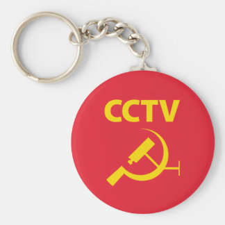 CCTV Flag Keychain