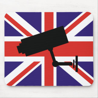 CCTV over British Flag Mouse Pad