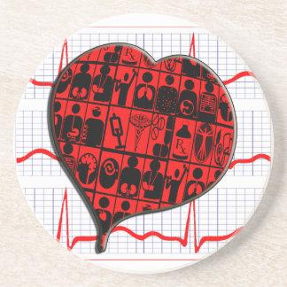 CCU HEART EKG MEDICAL SPECIALTIES COASTER