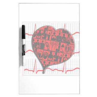 CCU HEART EKG MEDICAL SPECIALTIES DRY ERASE BOARD