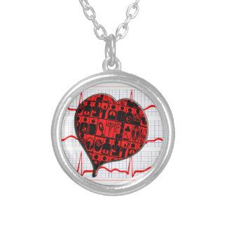 CCU HEART EKG MEDICAL SPECIALTIES PERSONALIZED NECKLACE