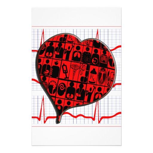 CCU HEART EKG MEDICAL SPECIALTIES STATIONERY DESIGN