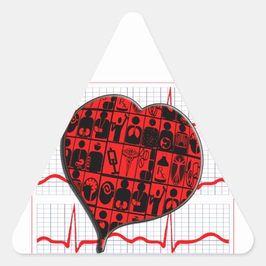 CCU HEART EKG MEDICAL SPECIALTIES TRIANGLE STICKER