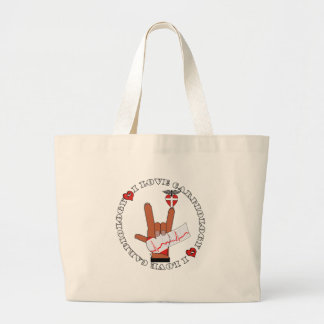CCU - I LOVE CARDIOLOGY - ASL HAND SIGN TOTE BAGS