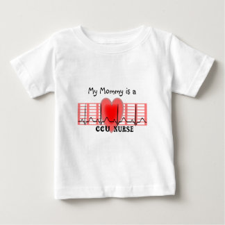 CCU Nurse Gift Ekg paper and Heart Design Baby T-Shirt