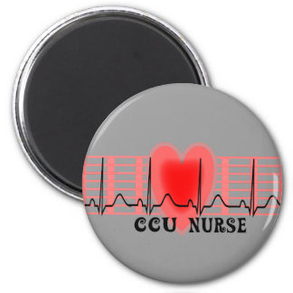 CCU Nurse Gift Ekg paper and Heart Design Magnet