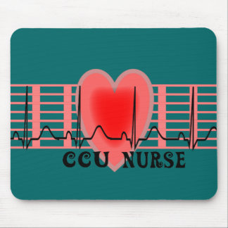 CCU Nurse Gift Ekg paper and Heart Design Mouse Pad