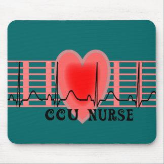CCU Nurse Gift Ekg paper and Heart Design Mouse Pad