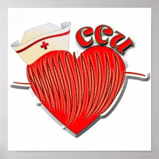 CCU NURSE HEART CARDIOGRAM POSTER