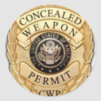 ccw badge design classic round sticker
