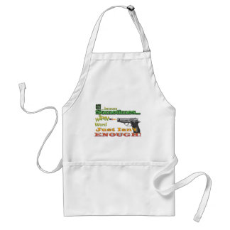 CCW - CONCEALED CARRY - GUNS - MOTTO ADULT APRON