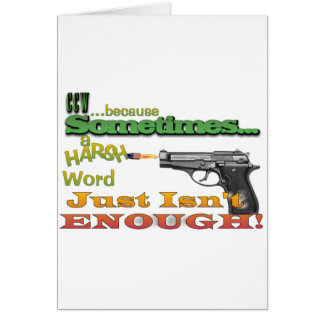 CCW - CONCEALED CARRY - GUNS - MOTTO CARD