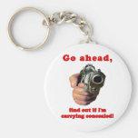 CCW Concealed Gun Joke Keychain