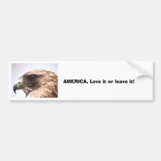 cd2 020, AMERICA, Love it or leave it! Car Bumper Sticker