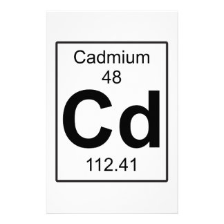 Cd - Cadmium Stationery