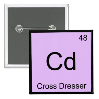 Cd - camiseta cruzada del símbolo del elemento de  pin cuadrada 5 cm
