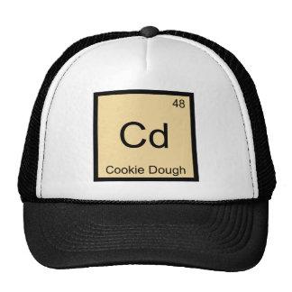Cd - camiseta del símbolo del elemento de la quími gorros