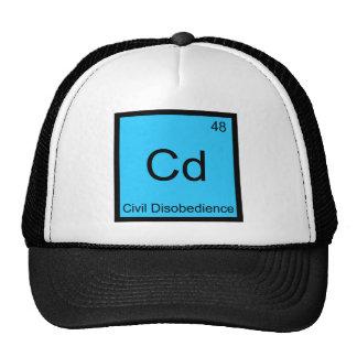 Cd - Civil Disobedience Chemistry Element Symbol T Trucker Hat
